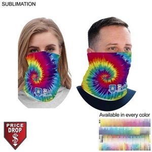 Sublimated BEST VALUE lightweight Seamless Neck Gaiter (Imported and in stock, Fast production)